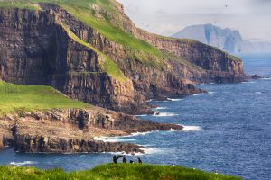 Cliffs on Mykines, Faroe islands.